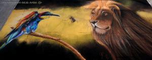 StreetArt Festivals - Der Löwe und der Vogel