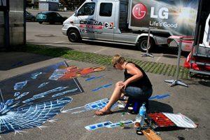 3D Straßenmaler unterwegs in Östreich