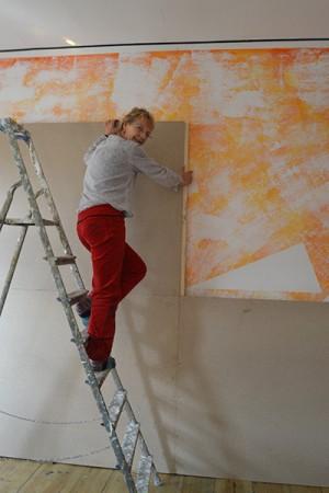 Aufbau des Wandbildes