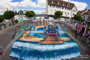 3D Straßenmalerei Blumberg