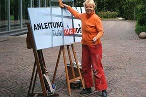 Strassenmalerei in Baden Baden