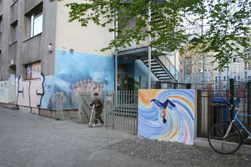 Wandmalerei in verschiedenen st dten drinnen und drau en - Wandmalerei berlin ...