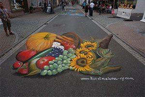 Straßenmalfest in Neustadt - Erntedank